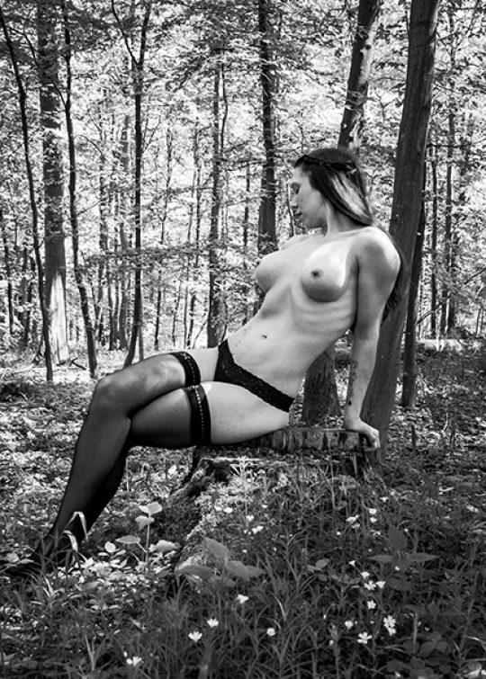 Teilakt Shooting im Wald