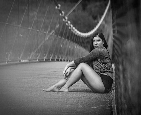 Romy auf der Brücke