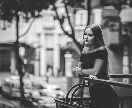 City Shooting mit Julia