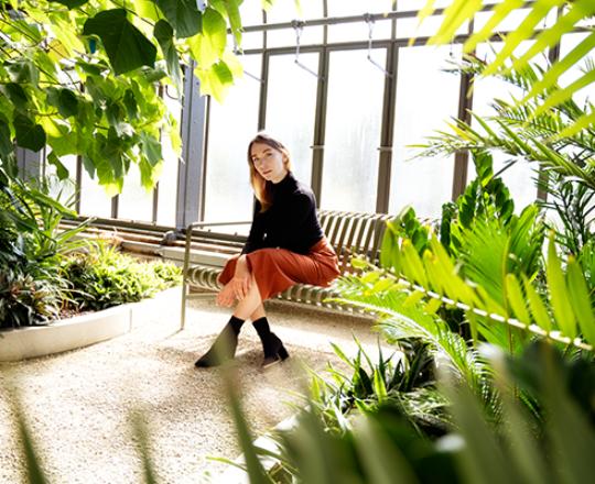 Shooting im Botanischen Garten mit Saskia